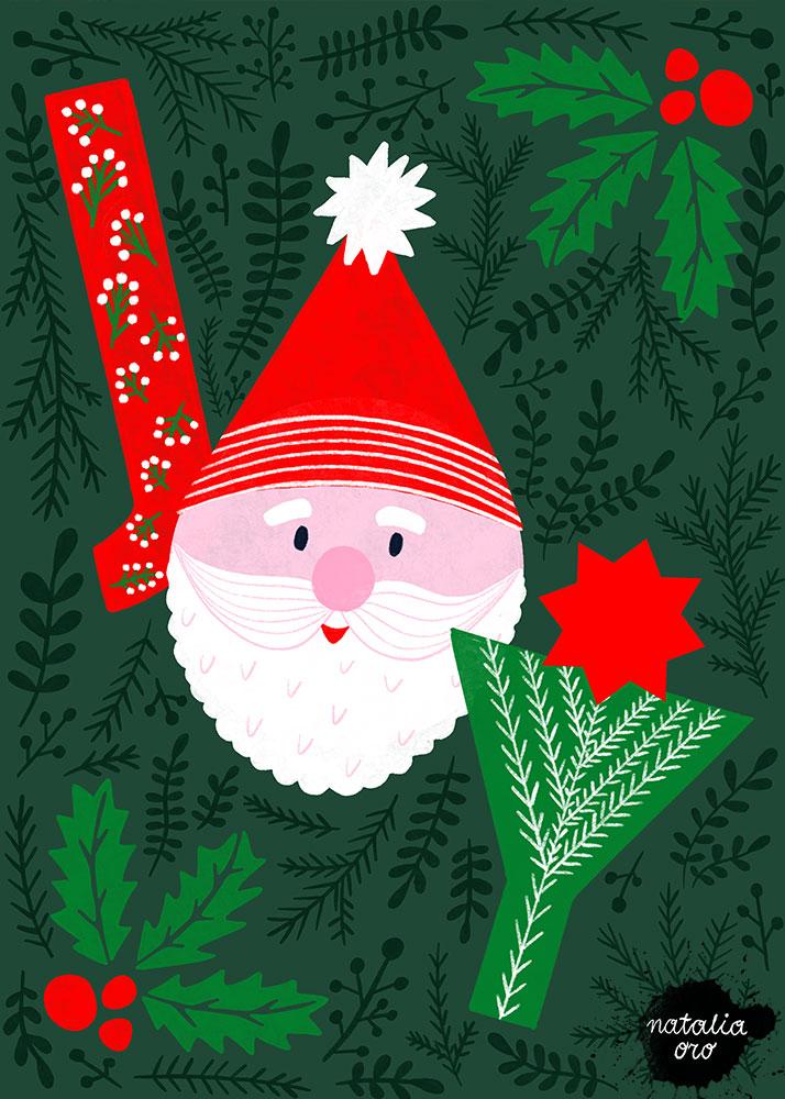 Joy - Christmas Greeting Card by nataliaoro