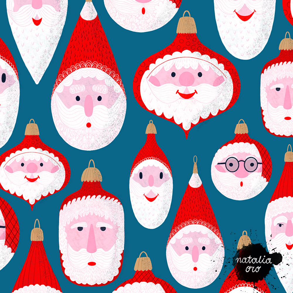 Santa  Christmas Ornaments Pattern by nataliaoro