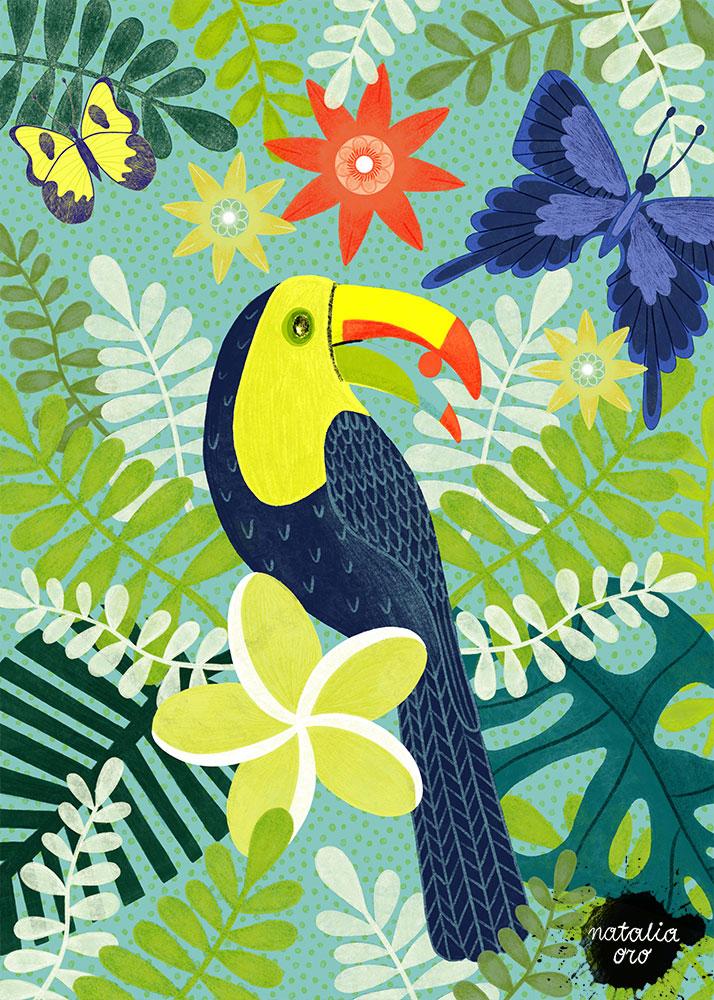 Tropical Greetings Greeting Card by nataliaoro