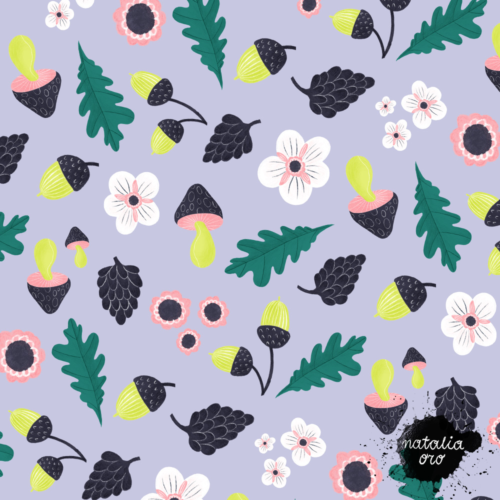Forest Plants Pattern by nataliaoro