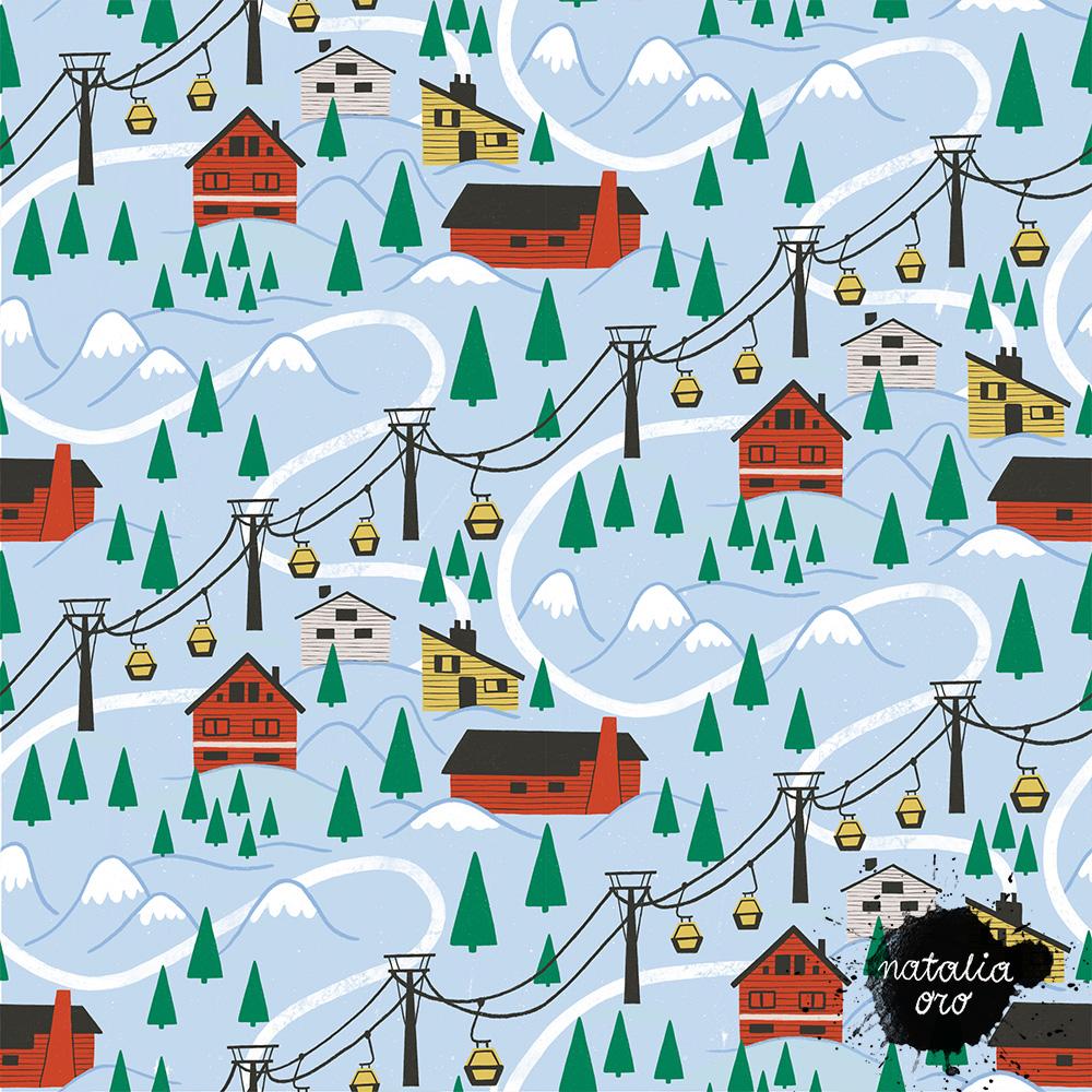 Winter Wonderland pattern, Personal Project 2021 by nataliaoro