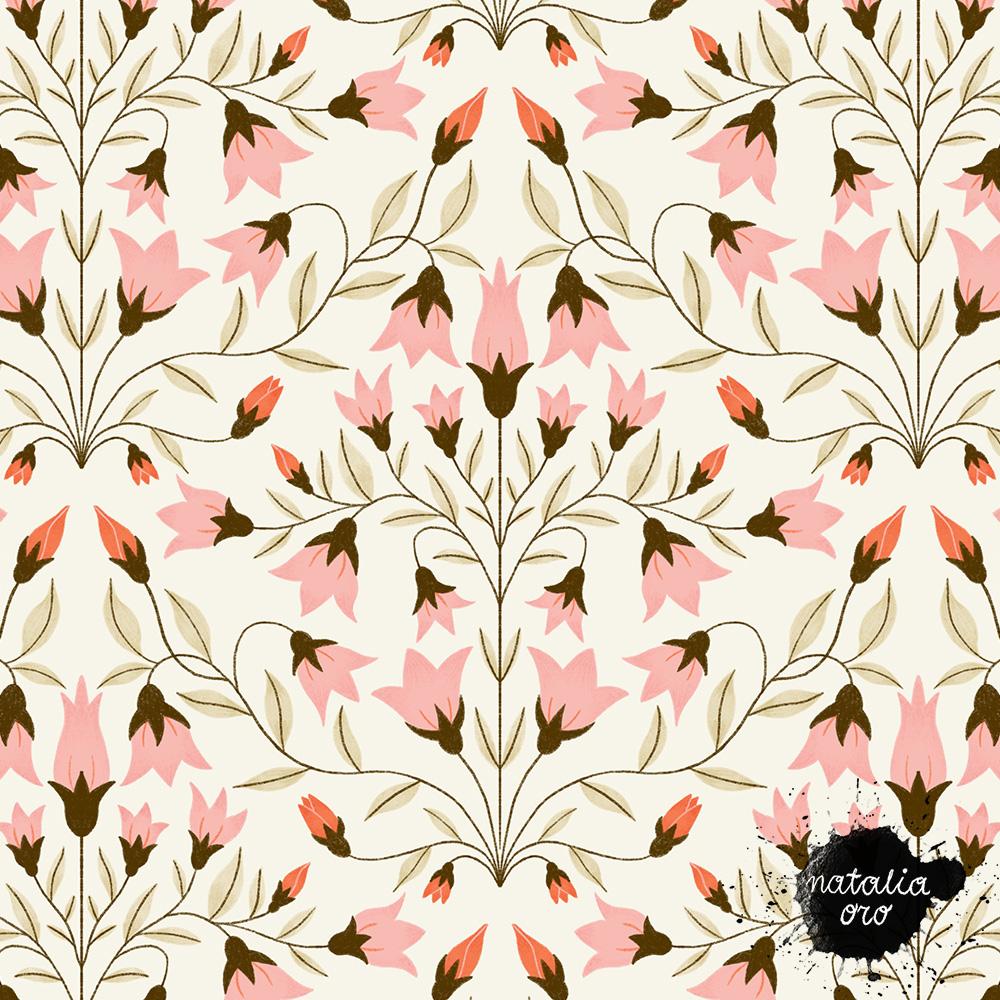 Damask Flowers pattern by nataliaoro